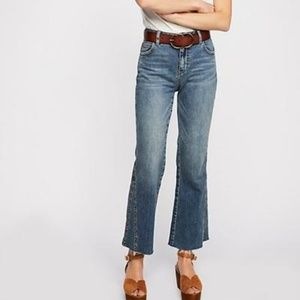 NEW Free People Studded Novelty Ranger Wash Jeans